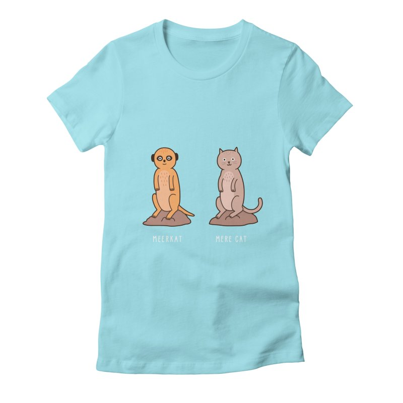 Meerkat Women's Fitted T-Shirt by Haasbroek's Artist Shop