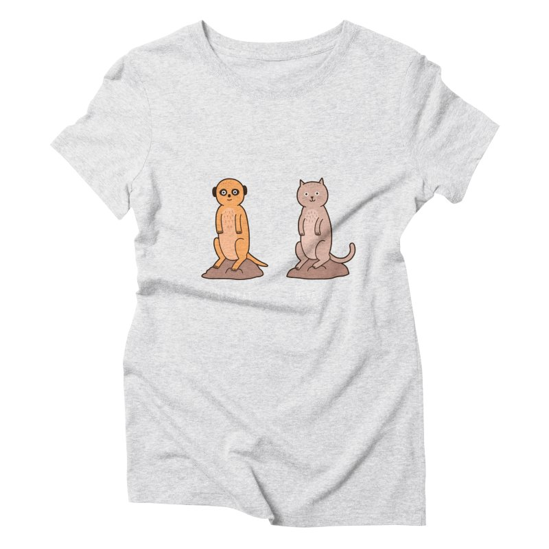 Meerkat Women's Triblend T-Shirt by jacohaasbroek's Artist Shop