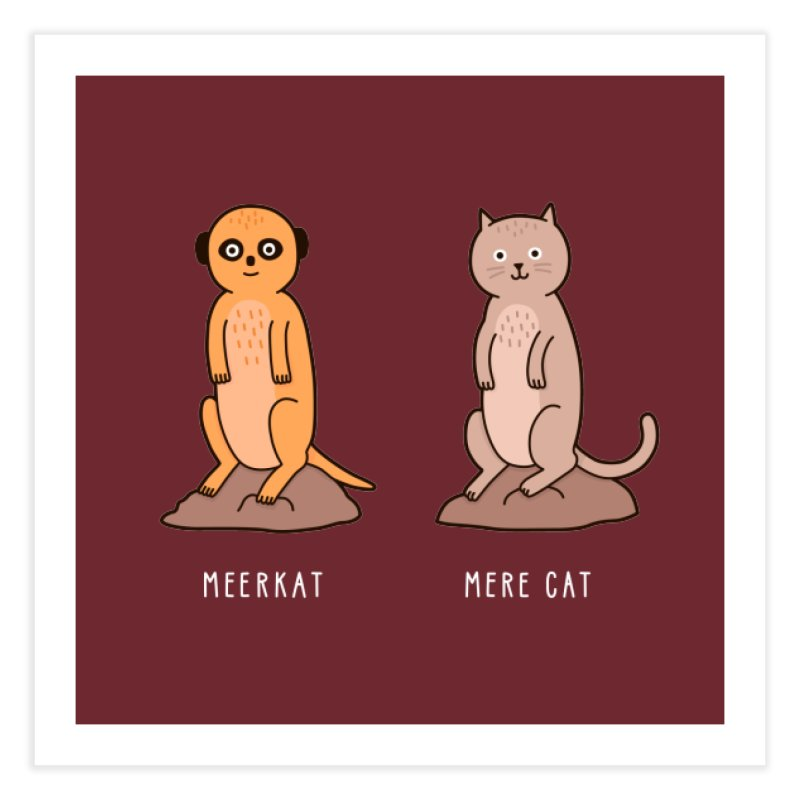 Meerkat Home Fine Art Print by Haasbroek's Artist Shop
