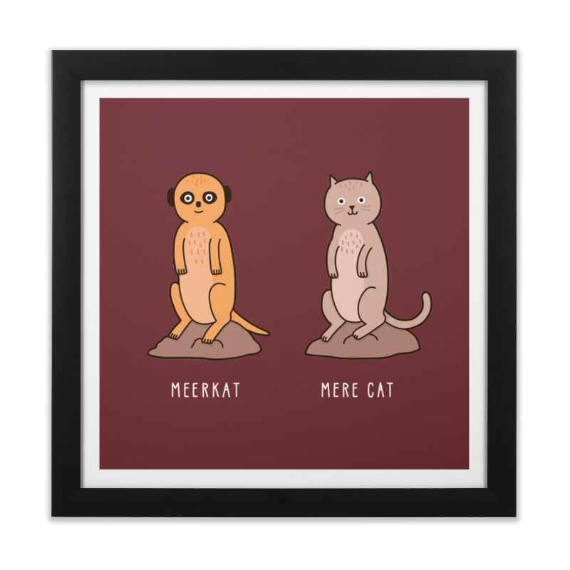 Meerkat Home Framed Fine Art Print by Haasbroek's Artist Shop