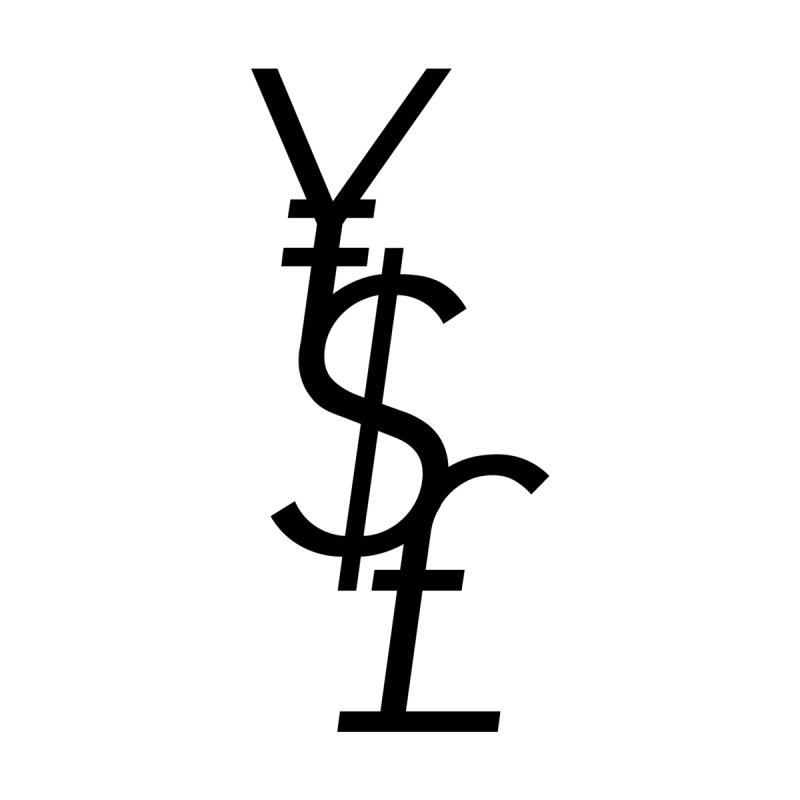 Yen Dollar Pound Home Throw Pillow by Haasbroek's Artist Shop