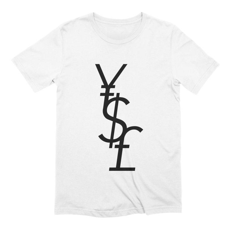 Yen Dollar Pound Men's Extra Soft T-Shirt by Haasbroek's Artist Shop