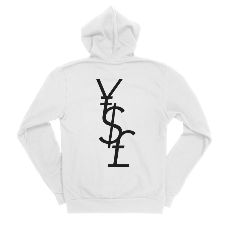 Yen Dollar Pound Women's Sponge Fleece Zip-Up Hoody by Haasbroek's Artist Shop