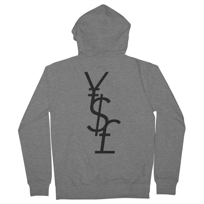 Yen Dollar Pound Women's French Terry Zip-Up Hoody by Haasbroek's Artist Shop