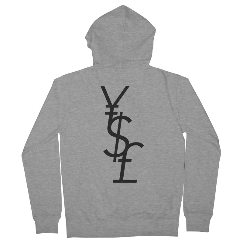 Yen Dollar Pound Men's French Terry Zip-Up Hoody by Haasbroek's Artist Shop