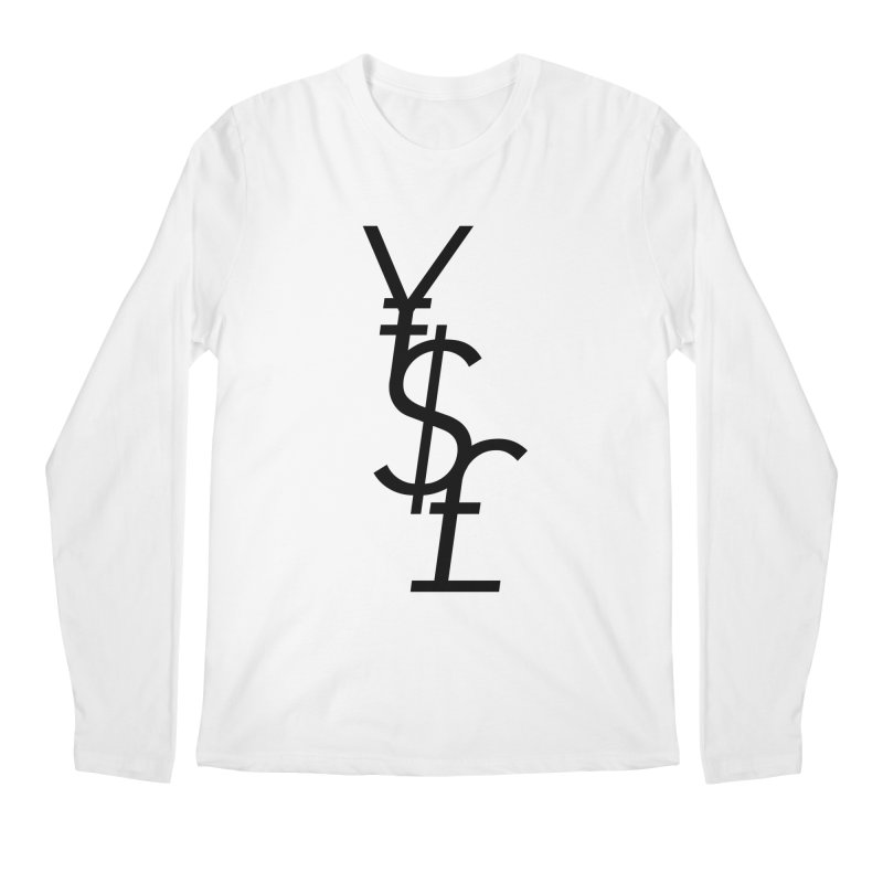 Yen Dollar Pound Men's Regular Longsleeve T-Shirt by Haasbroek's Artist Shop