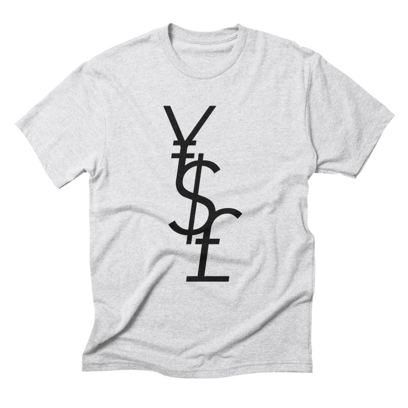 Yen Dollar Pound Men's Triblend T-Shirt by Haasbroek's Artist Shop
