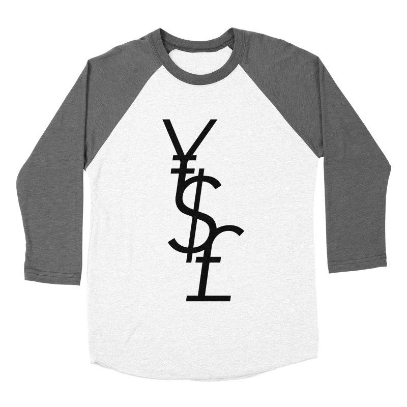 Yen Dollar Pound Women's Baseball Triblend Longsleeve T-Shirt by Haasbroek's Artist Shop