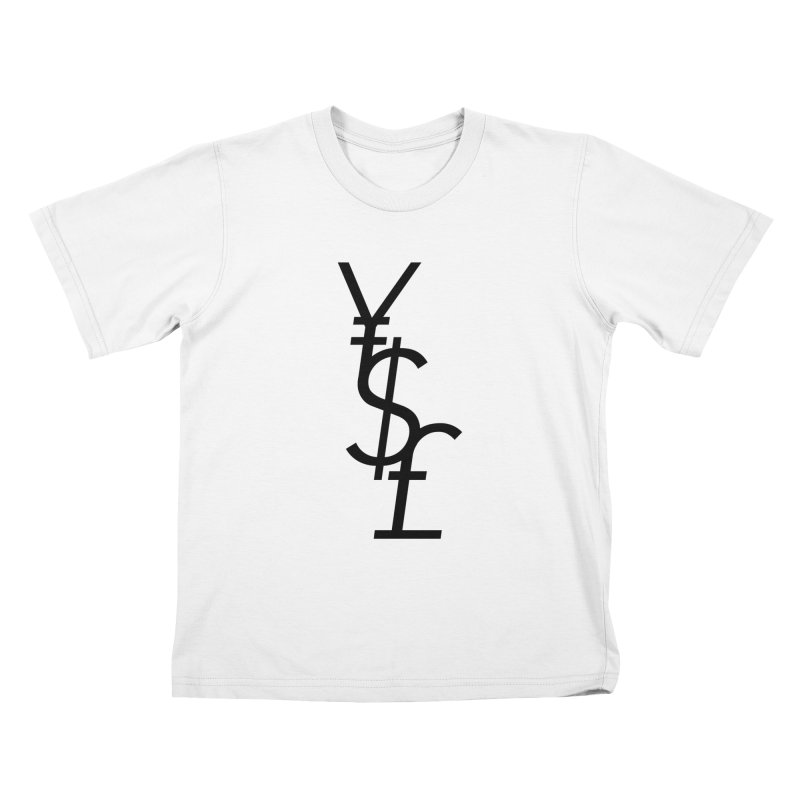 Yen Dollar Pound Kids T-Shirt by Haasbroek's Artist Shop