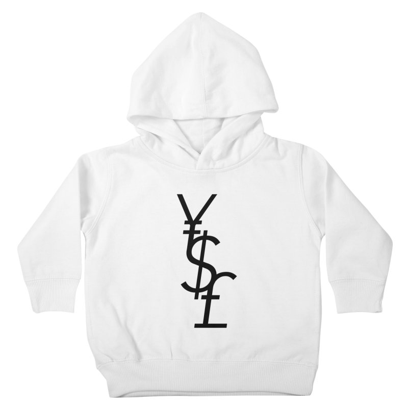 Yen Dollar Pound Kids Toddler Pullover Hoody by Haasbroek's Artist Shop