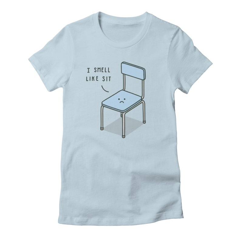 Sit Women's Fitted T-Shirt by jacohaasbroek's Artist Shop