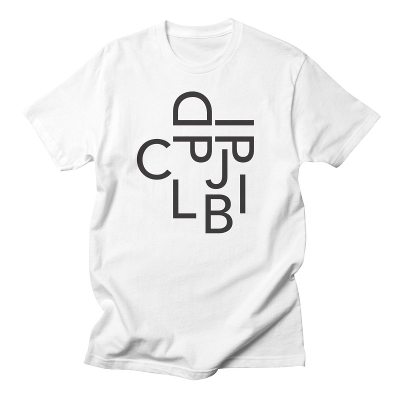 Typeface Men's T-Shirt by Haasbroek's Artist Shop