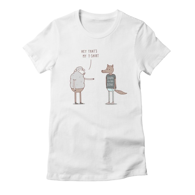 Wolf in Sheep's Clothing Women's Fitted T-Shirt by jacohaasbroek's Artist Shop