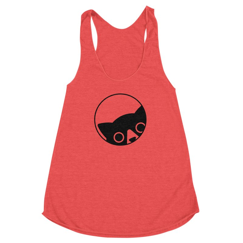 I see you Women's Racerback Triblend Tank by Jacopo Rosati