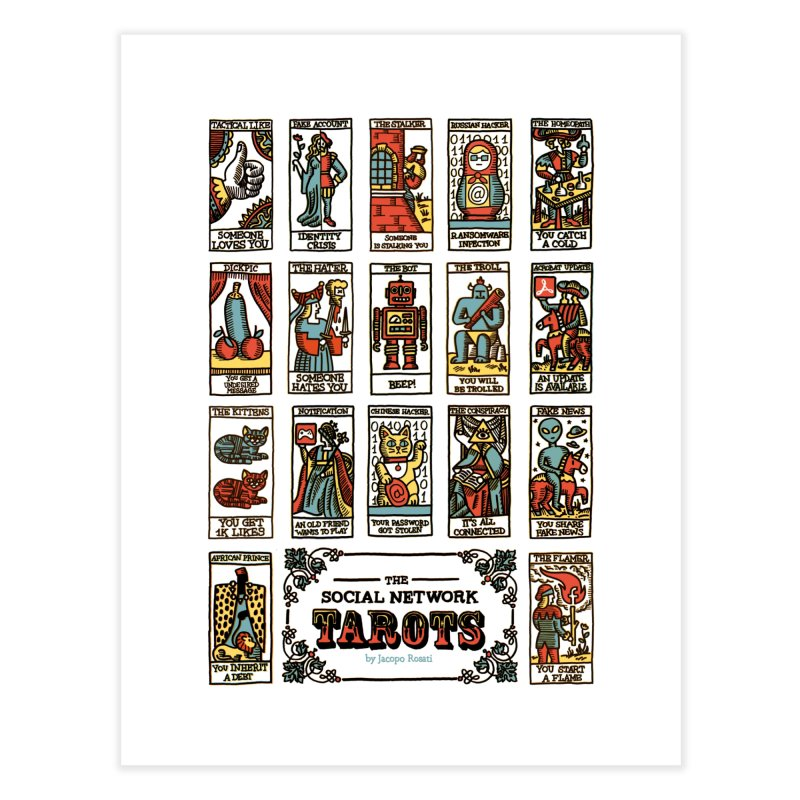 The Social Network Tarots Home Fine Art Print by Jacopo Rosati