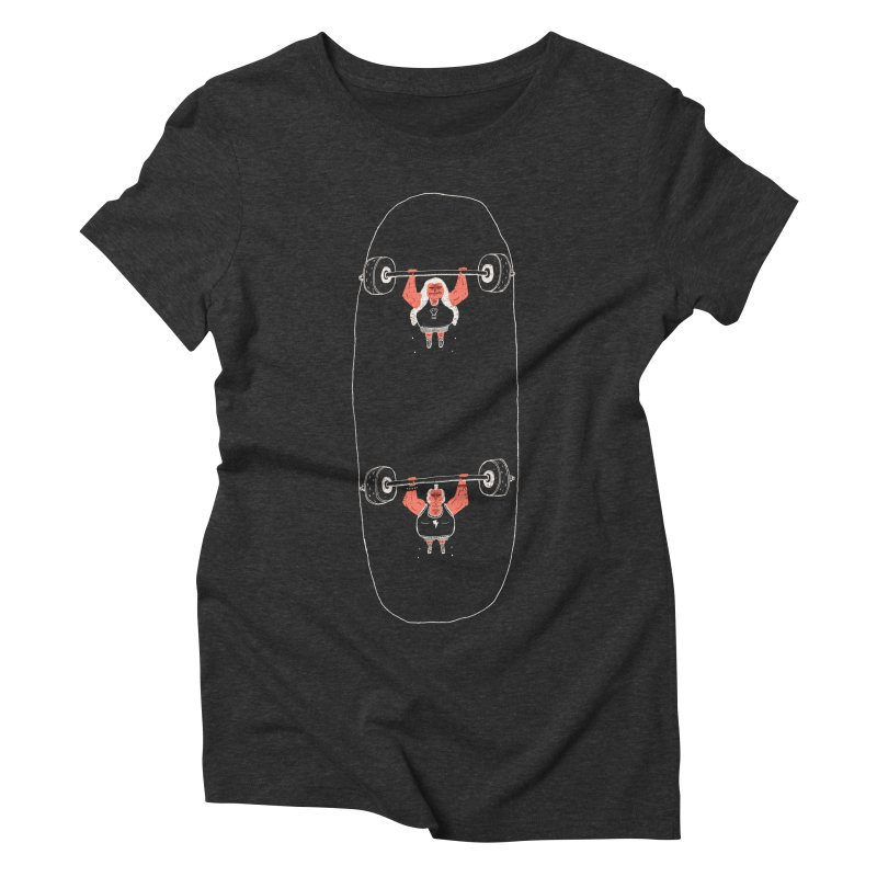 Heavyweight Skateboarding Women's Triblend T-Shirt by Jacques Maes
