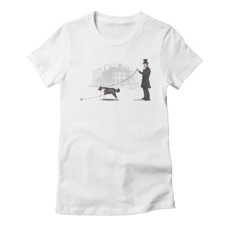 Walking the Dog Women's Fitted T-Shirt by Jacques Maes
