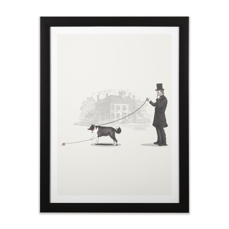 Walking the Dog Home Framed Fine Art Print by Jacques Maes