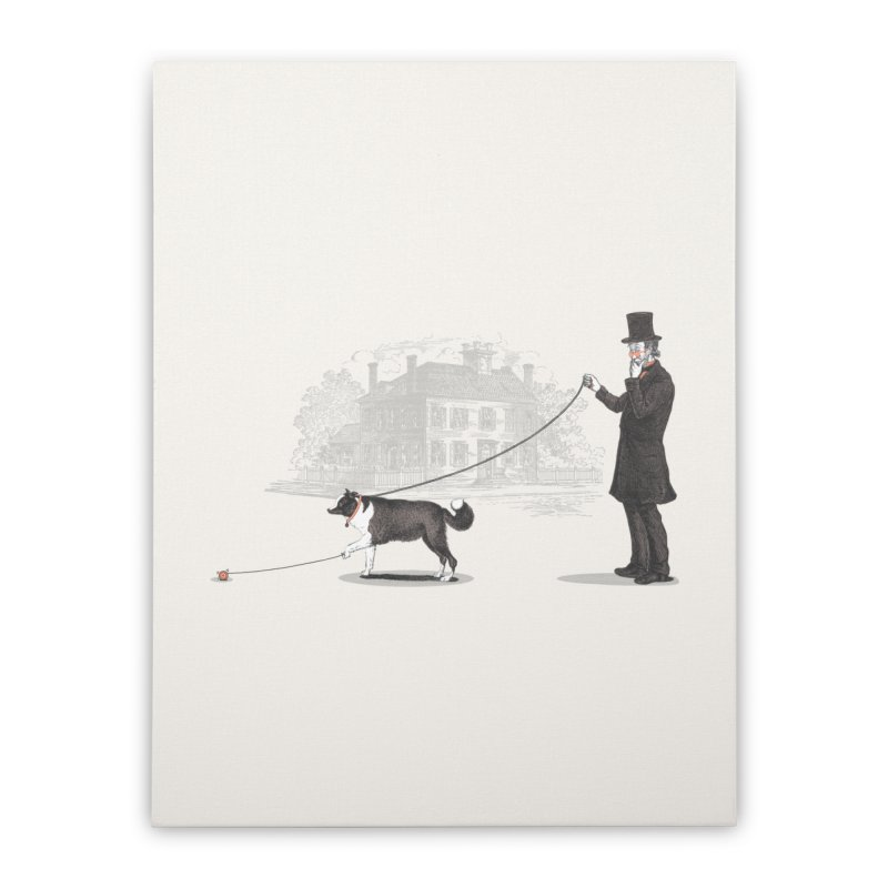 Walking the Dog Home Stretched Canvas by Jacques Maes