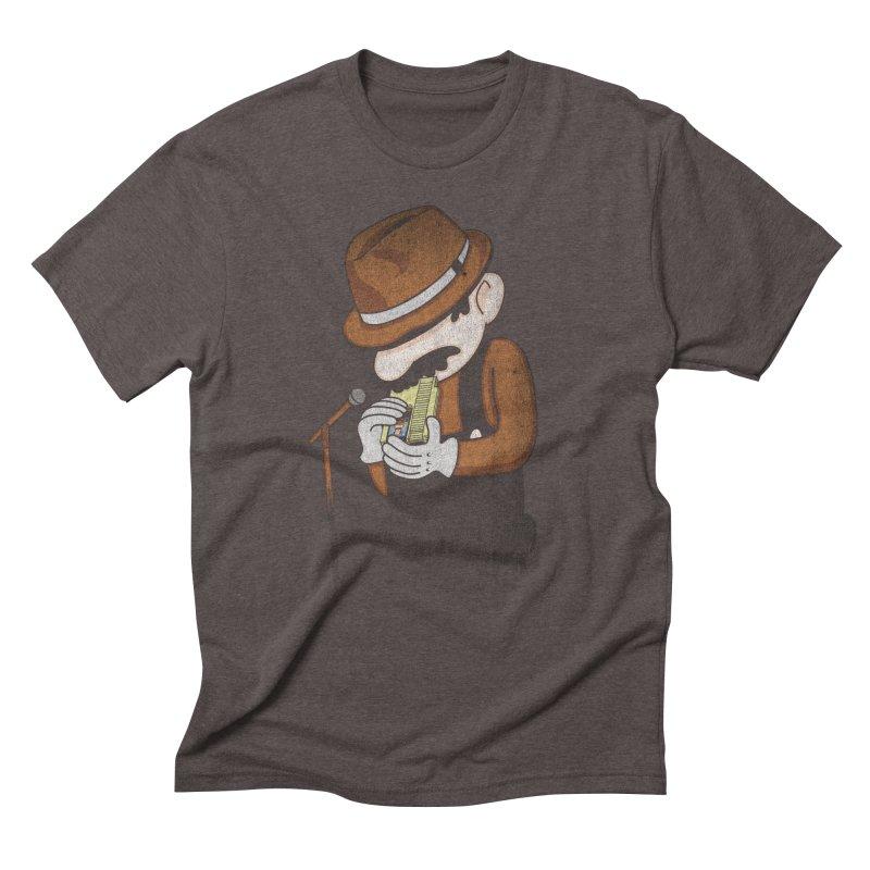 8-Bit Blues Men's Triblend T-shirt by Jacques Maes