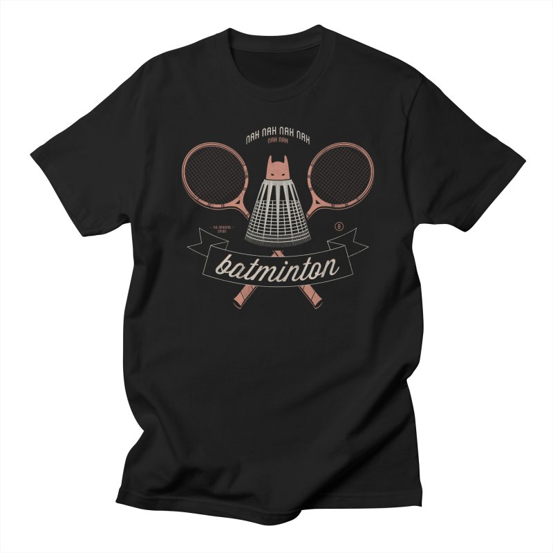 Batminton Men's T-Shirt by Jacques Maes
