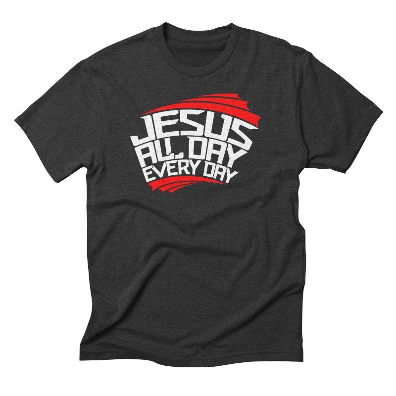 J.A.D.E.D. T-Shirt / Red & White Logo Men's T-Shirt by JADED ETERNAL