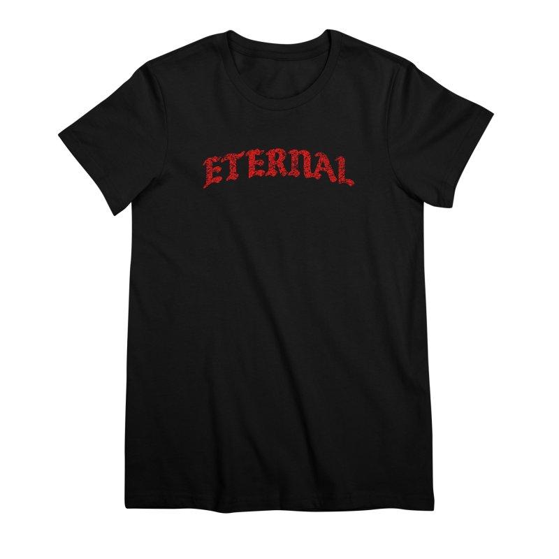 Eternal T-Shirt / Red Logo Women's T-Shirt by JADED ETERNAL