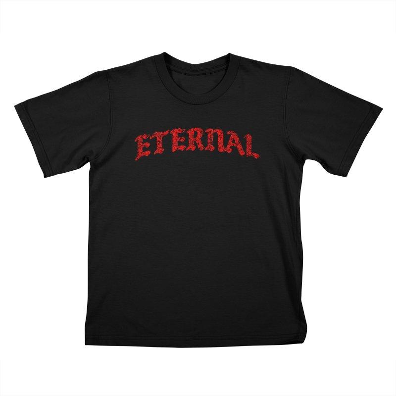 Eternal T-Shirt / Red Logo Kids T-Shirt by JADED ETERNAL