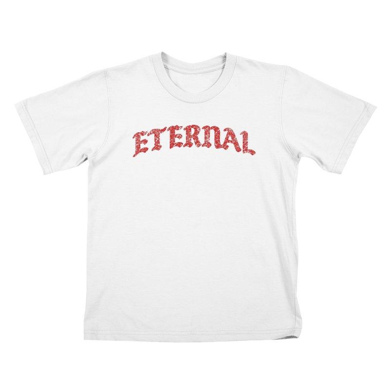 Eternal T-Shirt / Crimson Logo Kids T-Shirt by JADED ETERNAL