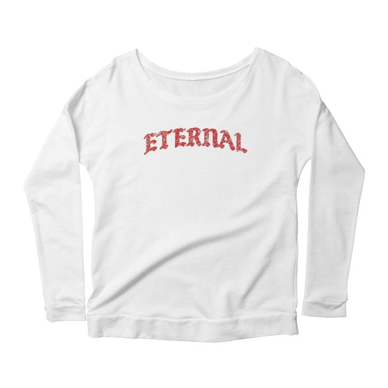 Eternal T-Shirt / Crimson Logo Women's Longsleeve T-Shirt by JADED ETERNAL