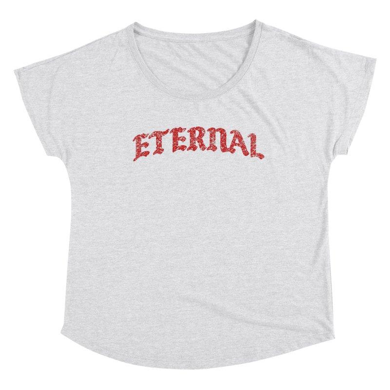 Eternal T-Shirt / Crimson Logo Women's Scoop Neck by JADED ETERNAL