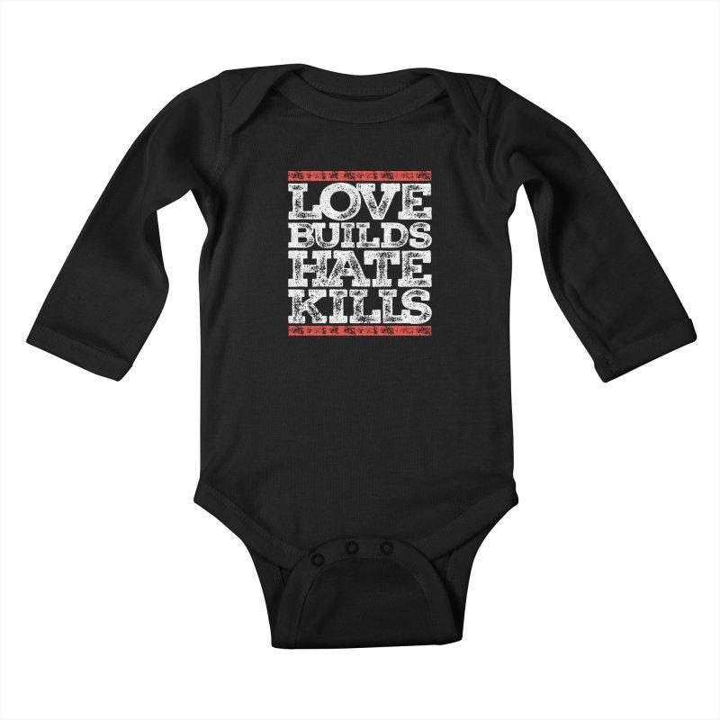 Love Builds Kids Baby Longsleeve Bodysuit by JADED ETERNAL