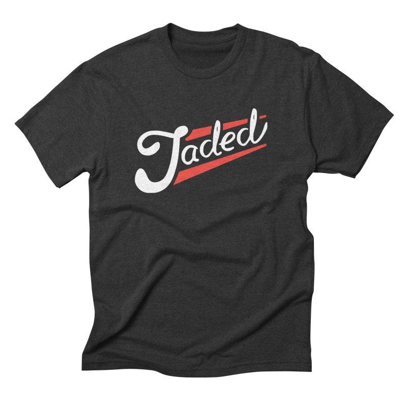 Jaded Script Logo Men's Triblend T-Shirt by JADED ETERNAL