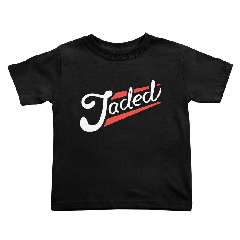 Jaded Script Logo Kids Toddler T-Shirt by JADED ETERNAL