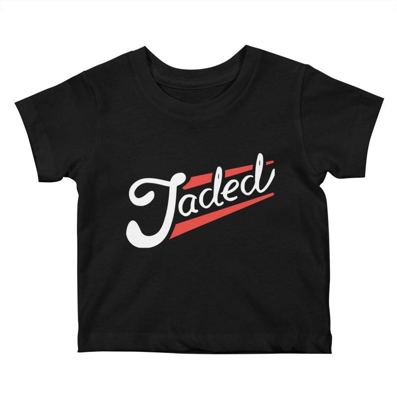 Jaded Script Logo Kids Baby T-Shirt by JADED ETERNAL