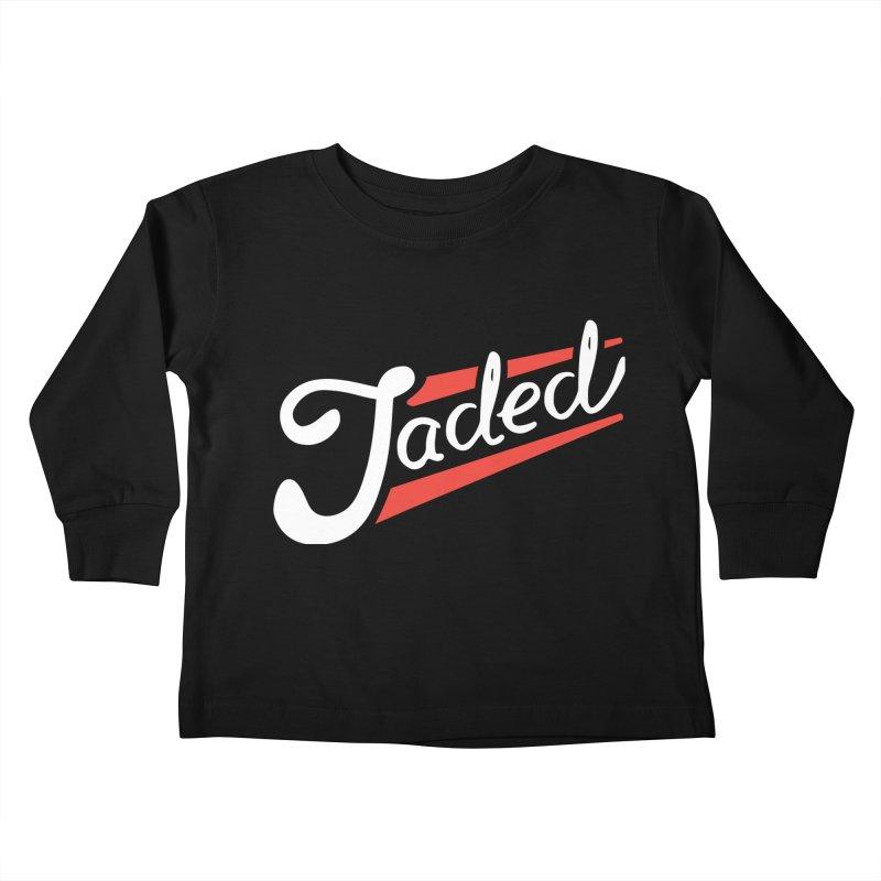 Jaded Script Logo Kids Toddler Longsleeve T-Shirt by JADED ETERNAL
