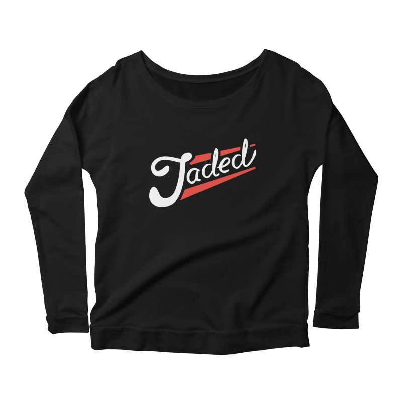 Jaded Script Logo Women's Scoop Neck Longsleeve T-Shirt by JADED ETERNAL