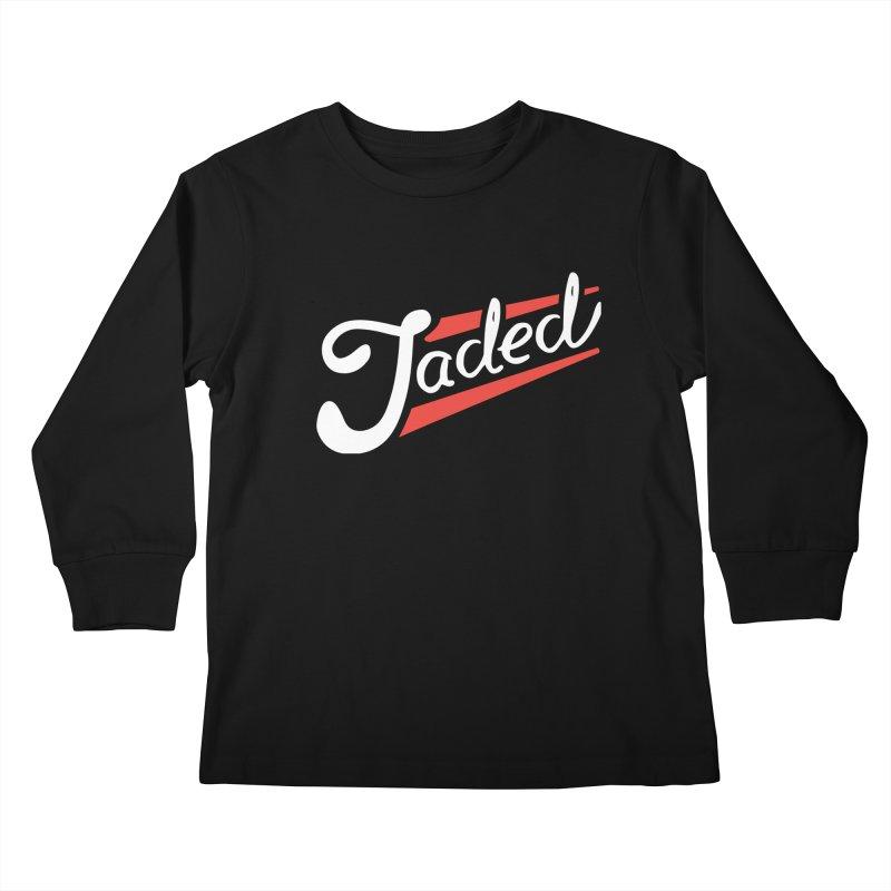 Jaded Script Logo Kids Longsleeve T-Shirt by JADED ETERNAL