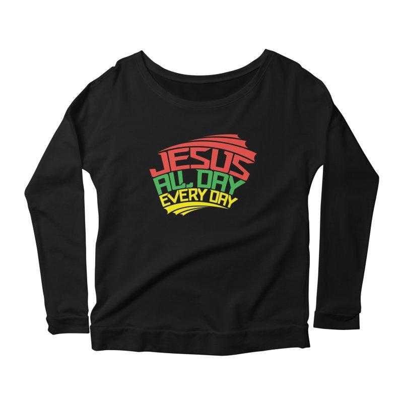 J.A.D.E.D. Women's Scoop Neck Longsleeve T-Shirt by JADED ETERNAL