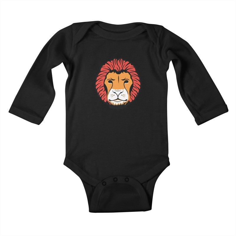 Lion of Lions Kids Baby Longsleeve Bodysuit by JADED ETERNAL