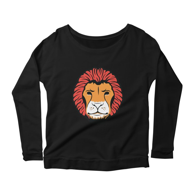 Lion of Lions Women's Scoop Neck Longsleeve T-Shirt by JADED ETERNAL