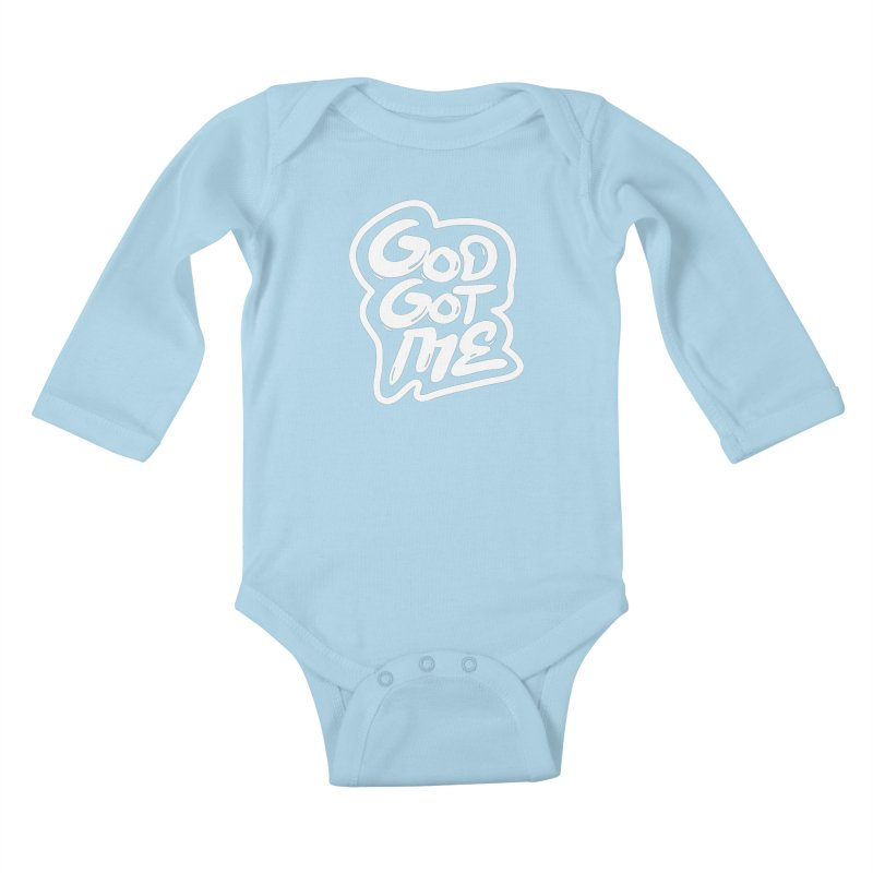 God Got Me Kids Baby Longsleeve Bodysuit by JADED ETERNAL