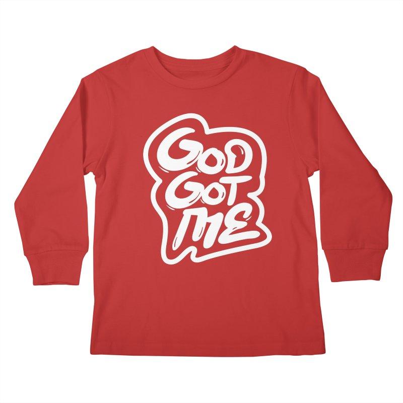 God Got Me Kids Longsleeve T-Shirt by JADED ETERNAL