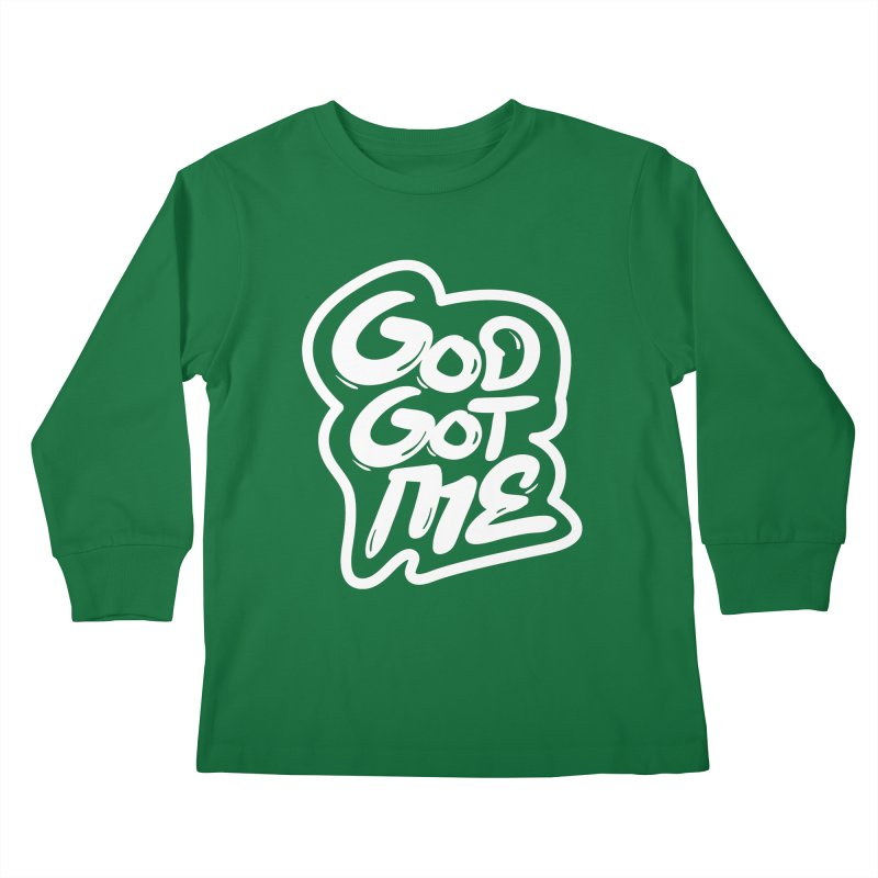 God Got Me Kids Longsleeve T-Shirt by JADED ETERNAL
