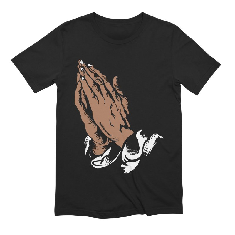 Just Pray Men's Extra Soft T-Shirt by JADED ETERNAL