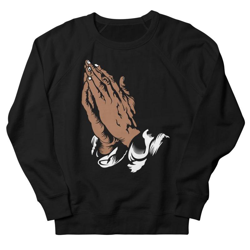 Just Pray in Men's French Terry Sweatshirt Black by JADED ETERNAL