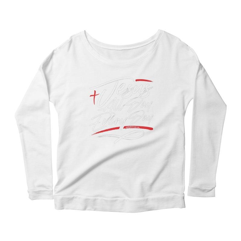 JADED Script Women's Scoop Neck Longsleeve T-Shirt by JADED ETERNAL