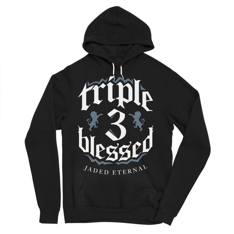Triple Blessed Men's Sponge Fleece Pullover Hoody by JADED ETERNAL