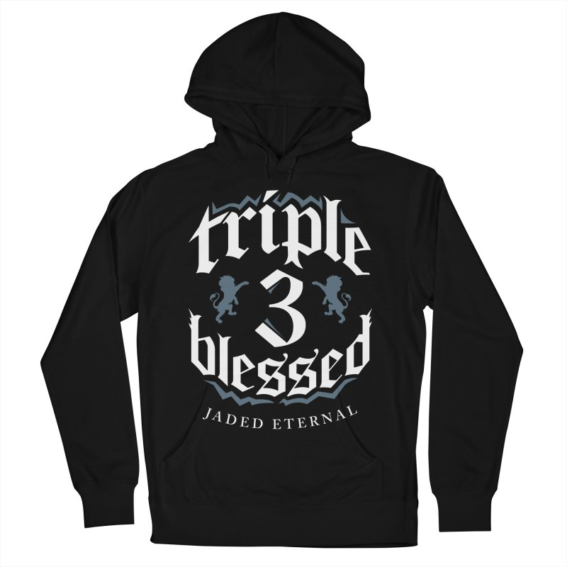Triple Blessed Men's French Terry Pullover Hoody by JADED ETERNAL