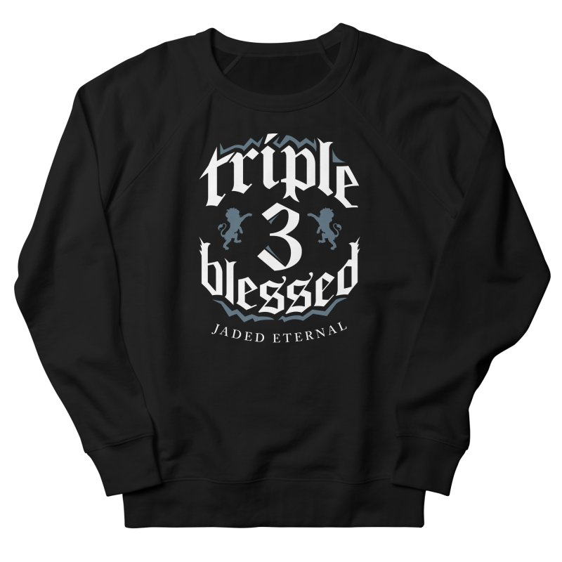 Triple Blessed Men's French Terry Sweatshirt by JADED ETERNAL